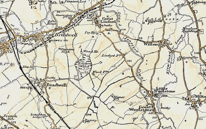Old map of Linford Wood in 1898-1901