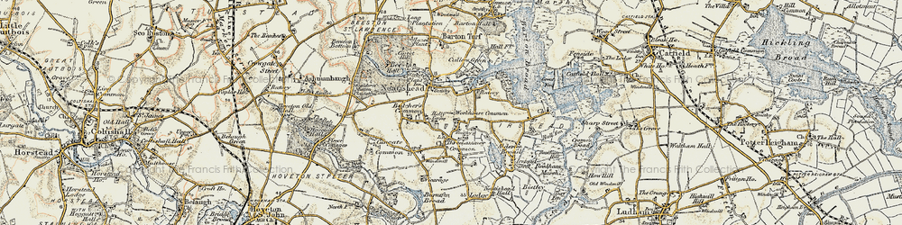 Old map of Neatishead in 1901-1902