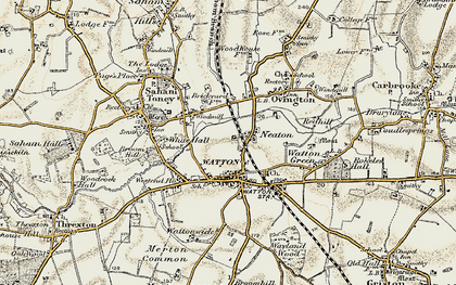 Old map of White Hall in 1901-1902