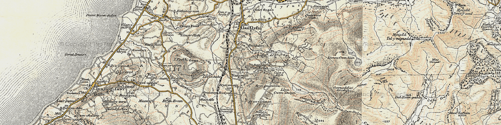 Old map of Nebo in 1903