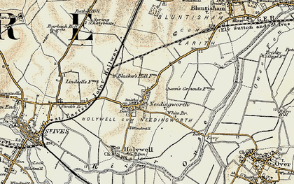 Old map of Needingworth in 1901