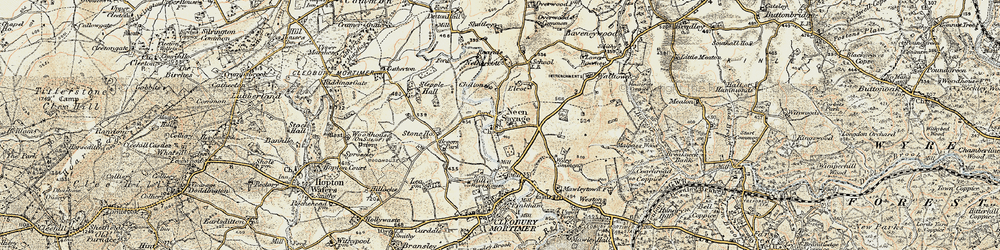 Old map of Wyre Common in 1901-1902