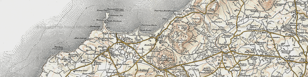 Old map of Tir Bach in 1903