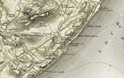 Old map of Ballimony in 1906