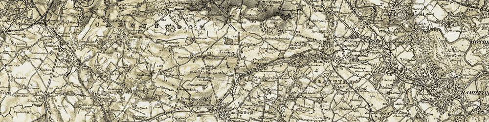 Old map of Lettrickhills in 1904-1905