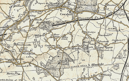 Old map of Neston in 1899