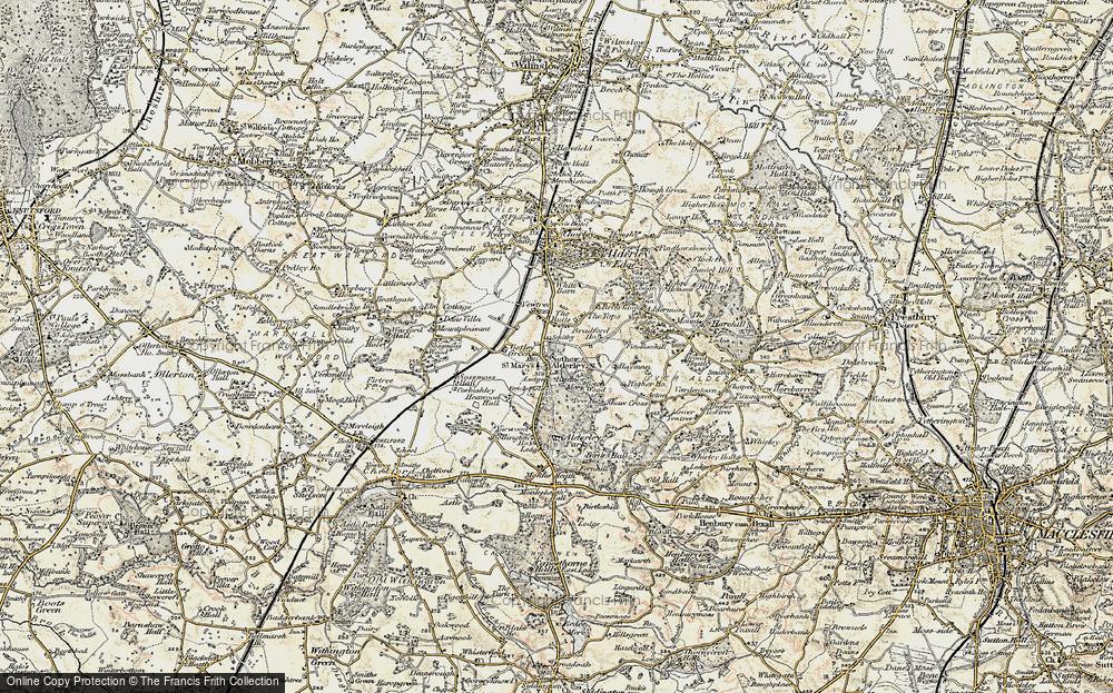 Old Map of Nether Alderley, 1902-1903 in 1902-1903