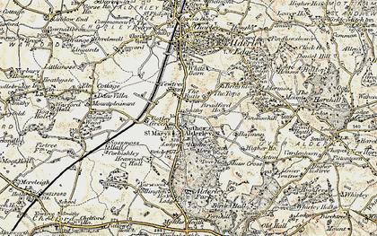 Old map of Nether Alderley in 1902-1903