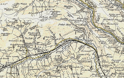 Old map of Back Tor in 1903