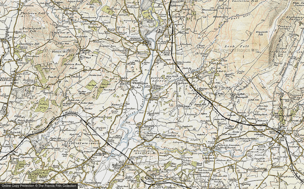 Old Map of Nether Burrow, 1903-1904 in 1903-1904
