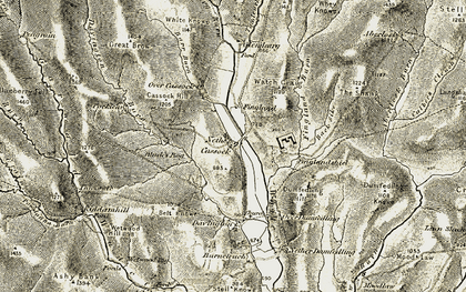 Old map of Aberlosk Burn in 1901-1904