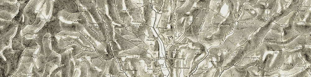 Old map of Whey Knowe in 1901-1904