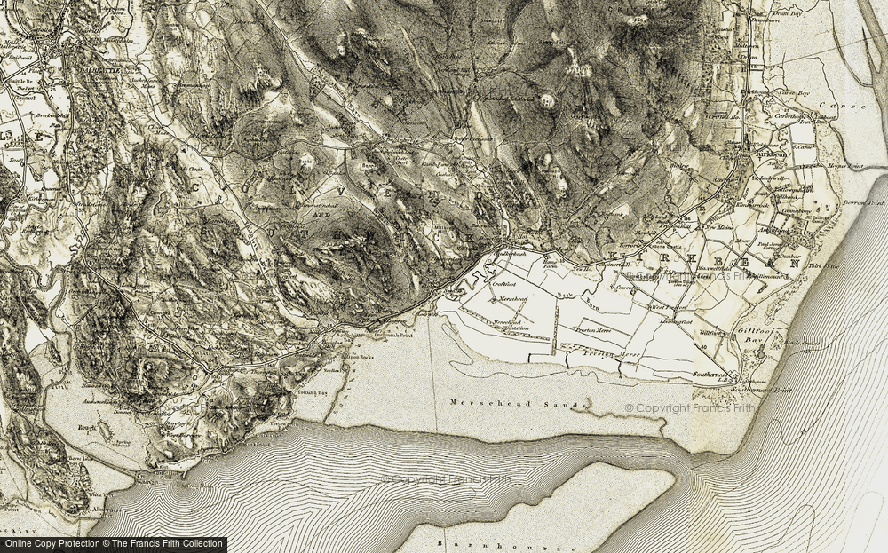 Old Map of Historic Map covering Bainloch Hill in 1901-1905