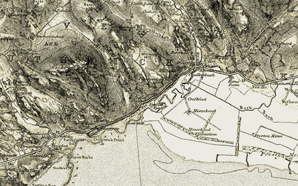Old map of White Croft in 1901-1905