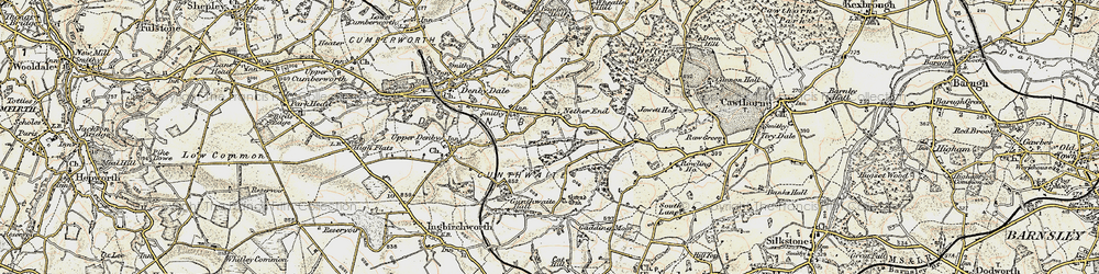 Old map of Ackin Royd in 1903