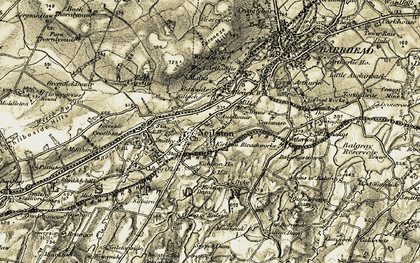 Old map of Nether Kirkton in 1905-1906