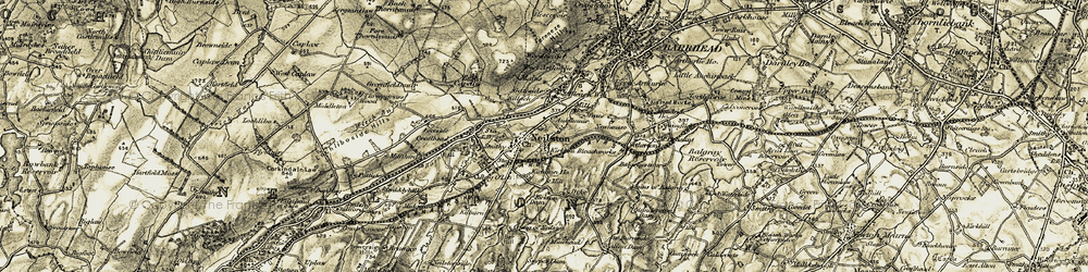 Old map of West Walton in 1905-1906