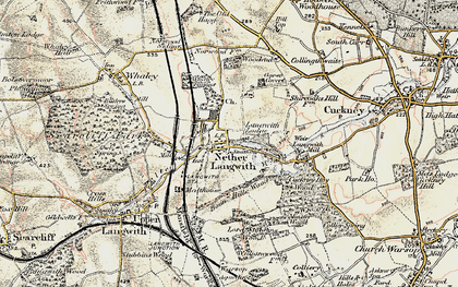Old map of Langwith Mill Ho in 1902-1903