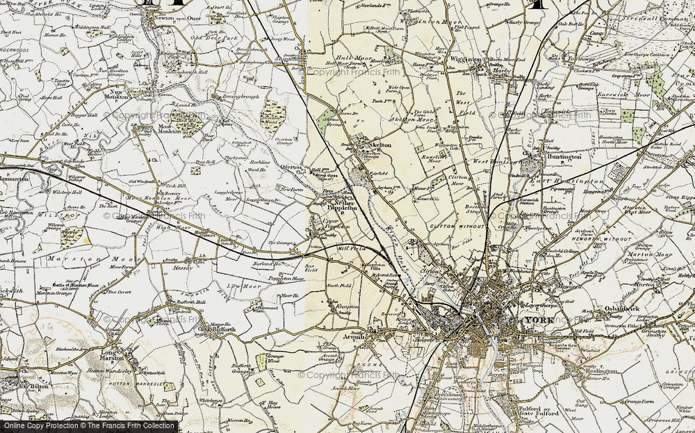 Old Map of Nether Poppleton, 1903-1904 in 1903-1904