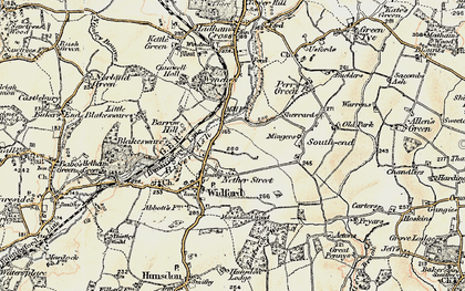 Old map of Wynches in 1898-1899