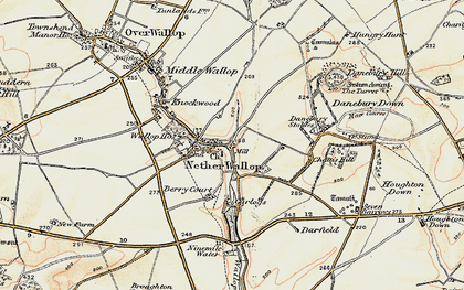 Old map of Nether Wallop in 1897-1899