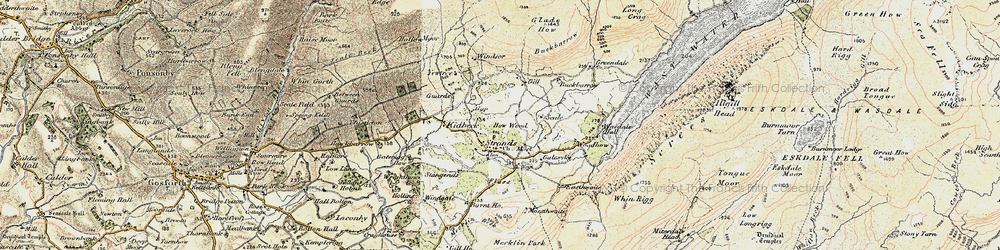 Old map of Yew Tree in 1903-1904