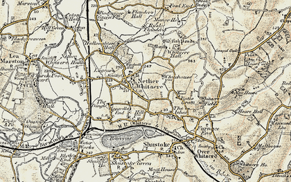 Old map of Windmill Hill in 1901-1902