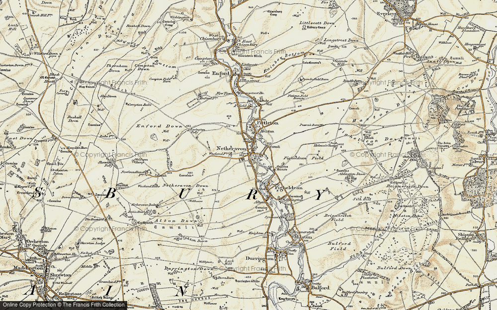 Old Map of Netheravon, 1897-1899 in 1897-1899