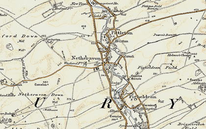Old map of Wexland Hanging in 1897-1899