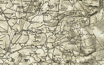 Old map of Tillybo in 1909-1910