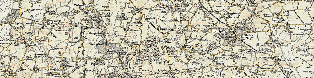 Old map of Witch Lodge in 1898-1900