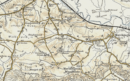 Old map of Woodford in 1902