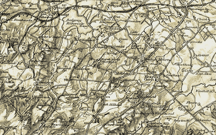 Old map of Netherplace in 1904-1905
