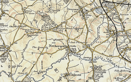 Old map of Acresford in 1902