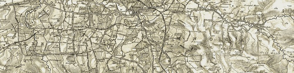 Old map of White Knowe in 1904-1905