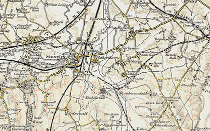 Old map of Netherthorpe in 1902-1903