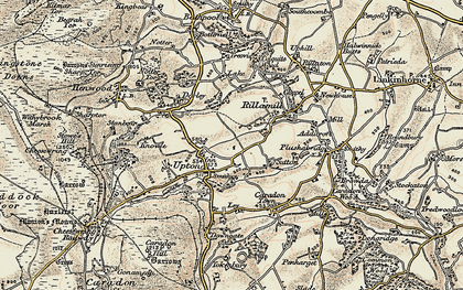 Old map of Netherton in 1900