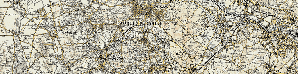 Old map of Netherton in 1902