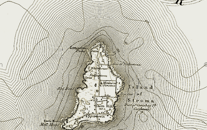 Old map of Langaton Point in 1911-1912