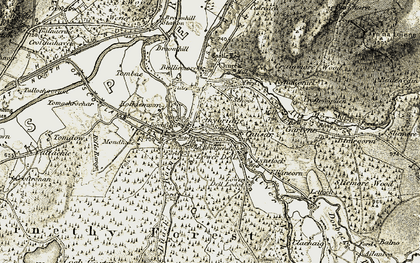 Old map of Abernethy Forest in 1908-1911