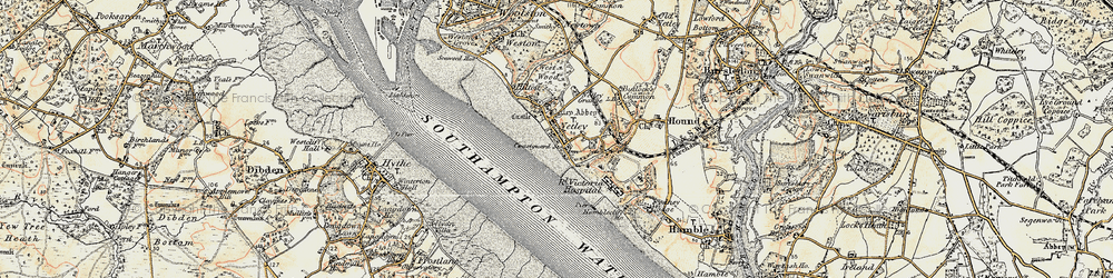 Old map of Netley in 1897-1909