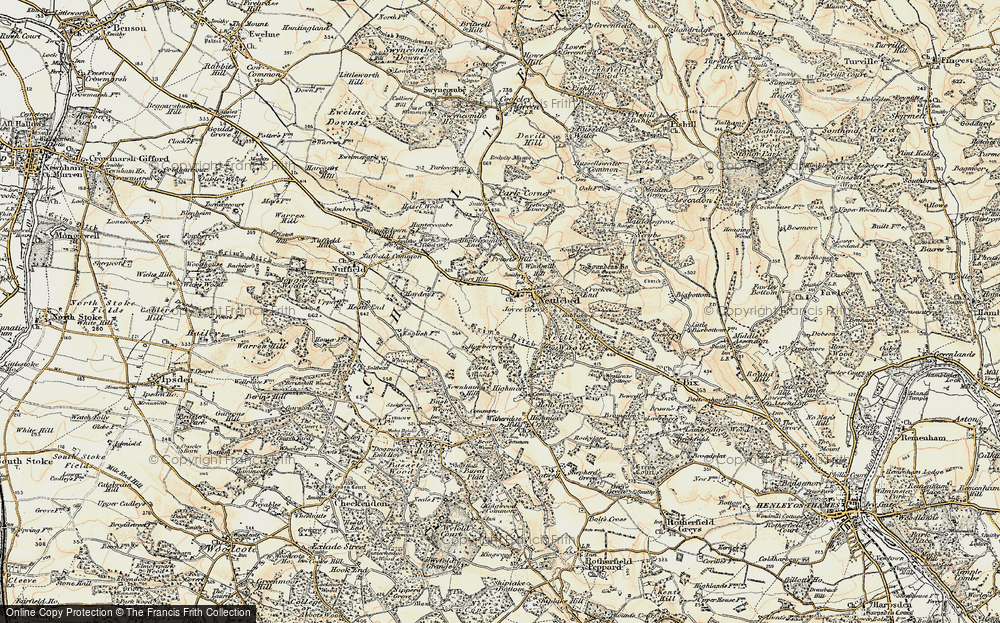 Old Map of Nettlebed, 1897-1898 in 1897-1898