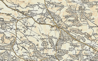 Old map of Nettlebed in 1897-1898
