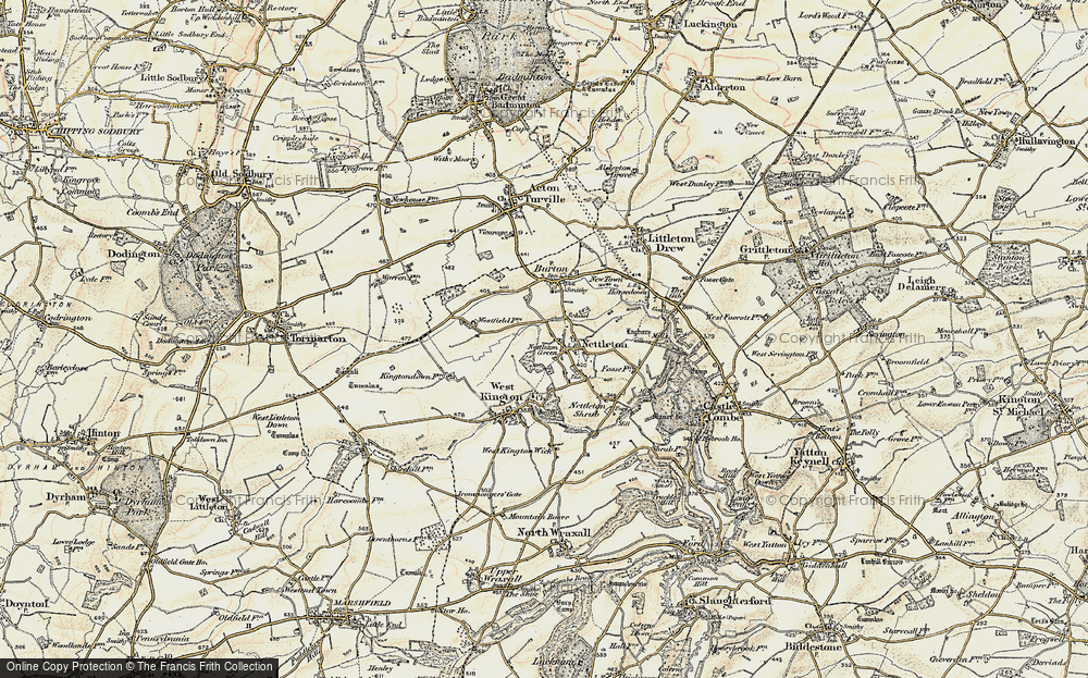 Old Map of Nettleton, 1898-1899 in 1898-1899