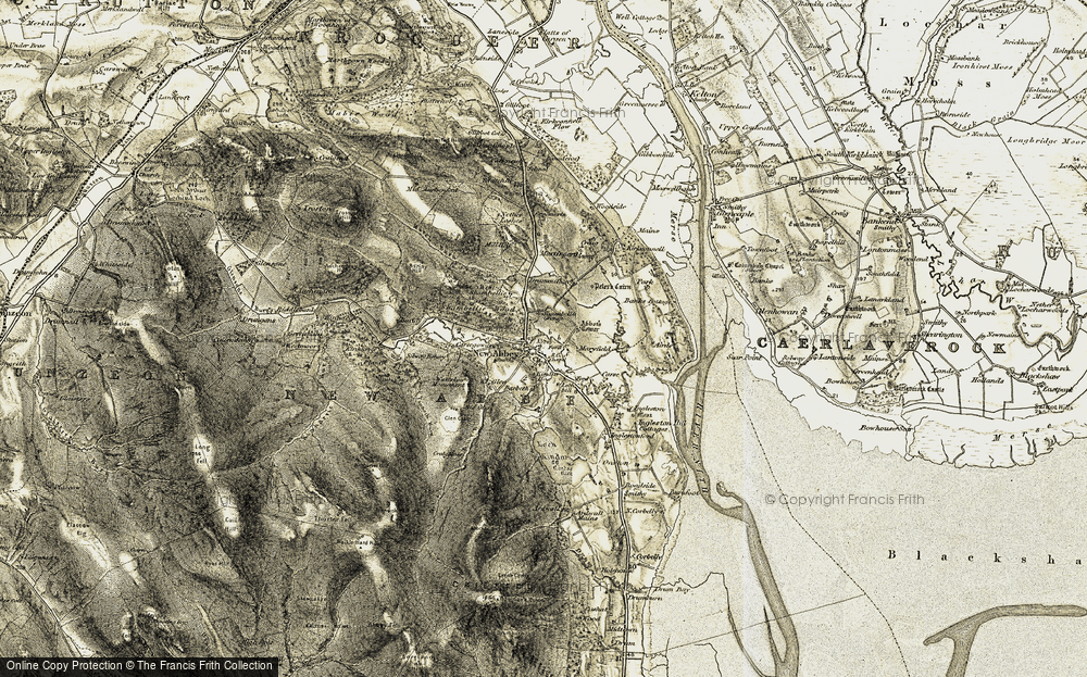 Old Map of Historic Map covering Banks Cott in 1901-1905