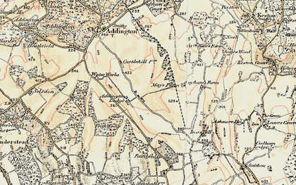 Old map of New Addington in 1897-1902