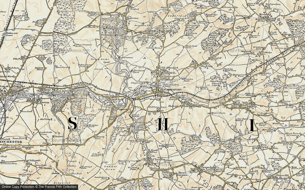 Old Map of Historic Map covering Hampshire in 1897-1900