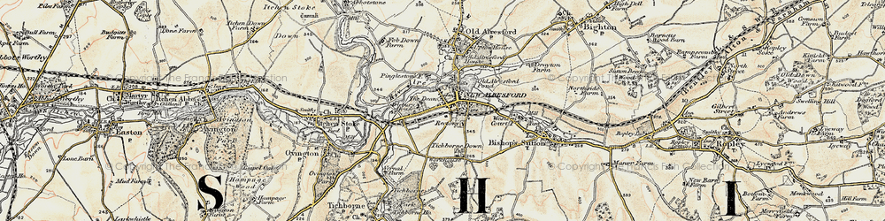 Old map of New Alresford in 1897-1900