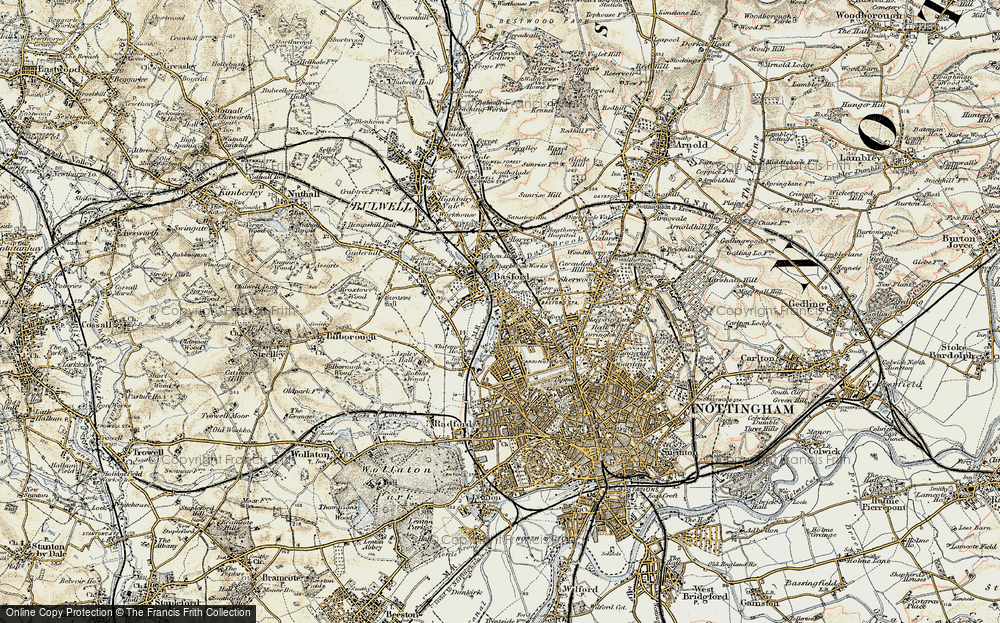 Old Map of New Basford, 1902-1903 in 1902-1903