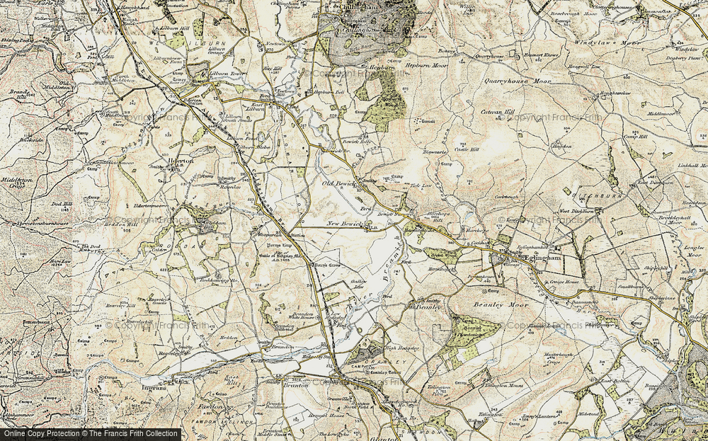 Old Map of Historic Map covering Tick Law in 1901-1903
